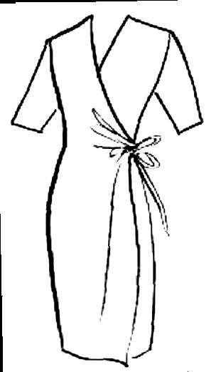 En omlottklänning framhäver de fantastiska kurvorna hos ett Timglas
